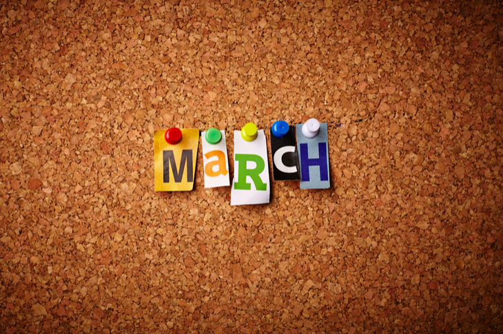 Content Marketing March Scatter