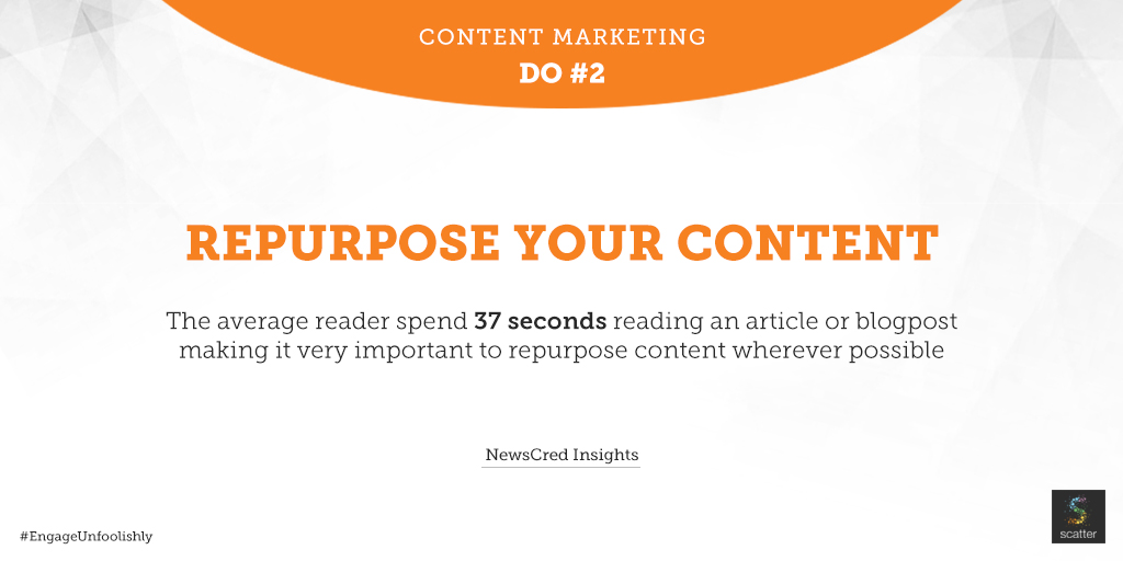 Content Marketing Dos and Donts - Scatter