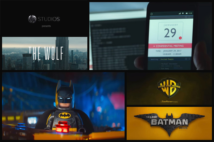 "Audience engagement - advertisement from HP studio on ""The Wolf"" and the LEGO Batman advertisement - Scatter"