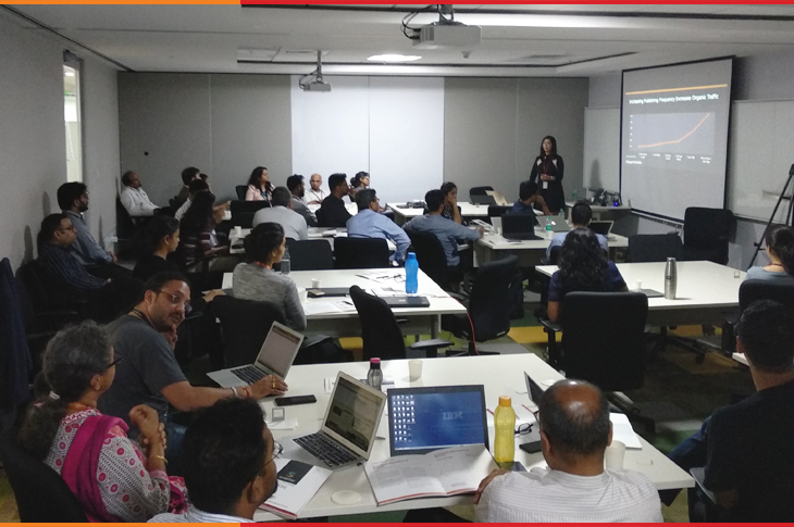 a picture taken during the scatter content marketing workshop