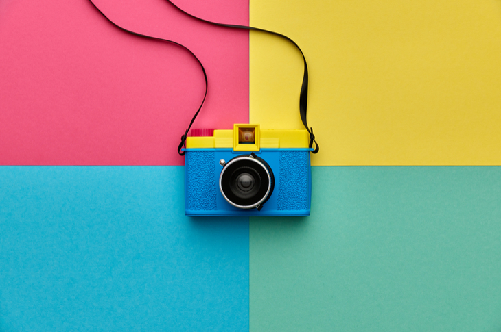 high quality images - a camera placed on the intersection of 4 colours