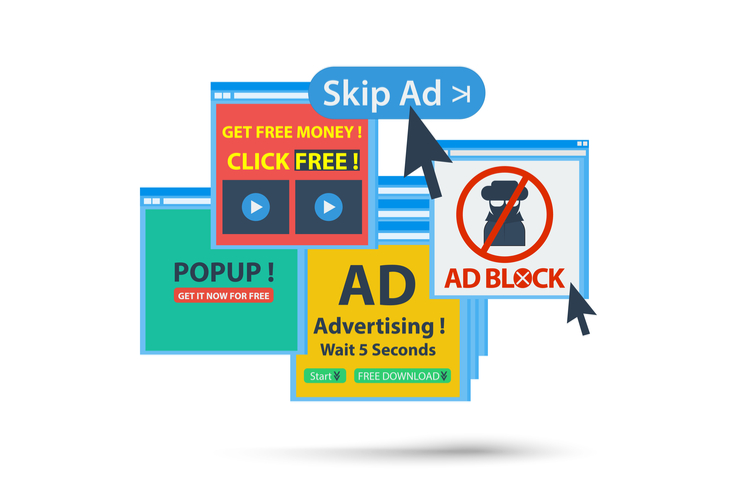 advertising - ad block popup banner concept