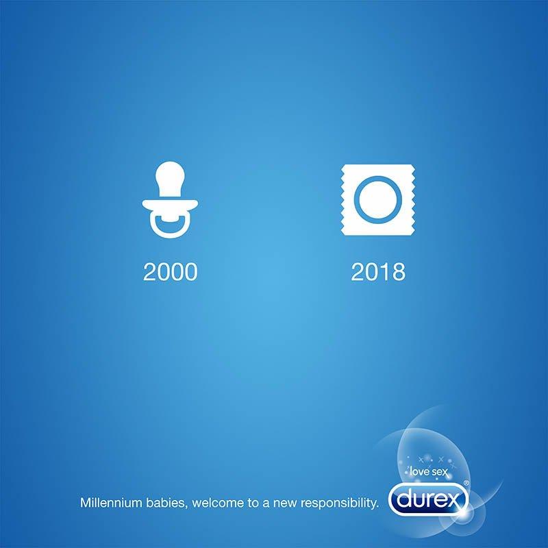January content calendar featuring Durex