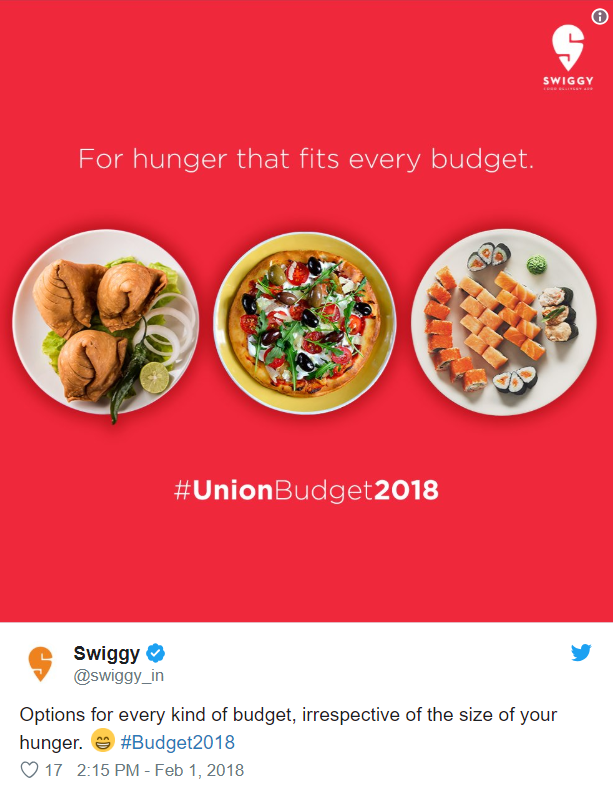 Swiggy featured in February content calendar