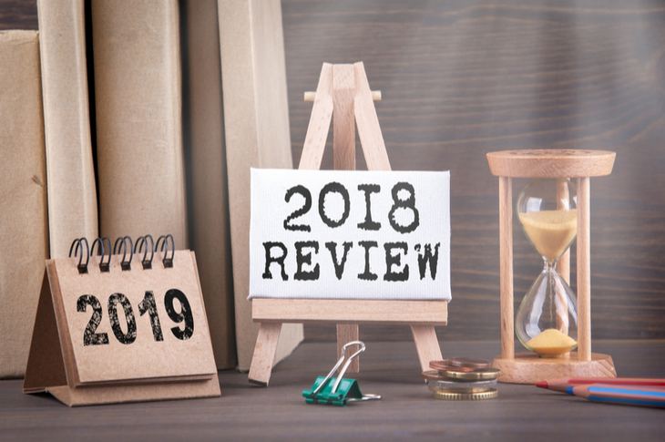 content writing of 2018 in review