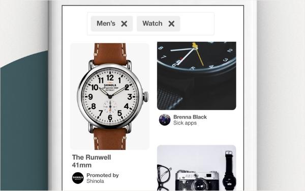 Screenshot of a Pinterest feed
