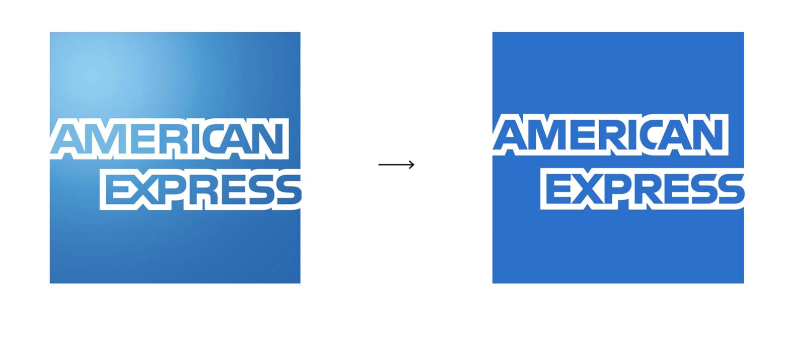 Amex changed brand logo