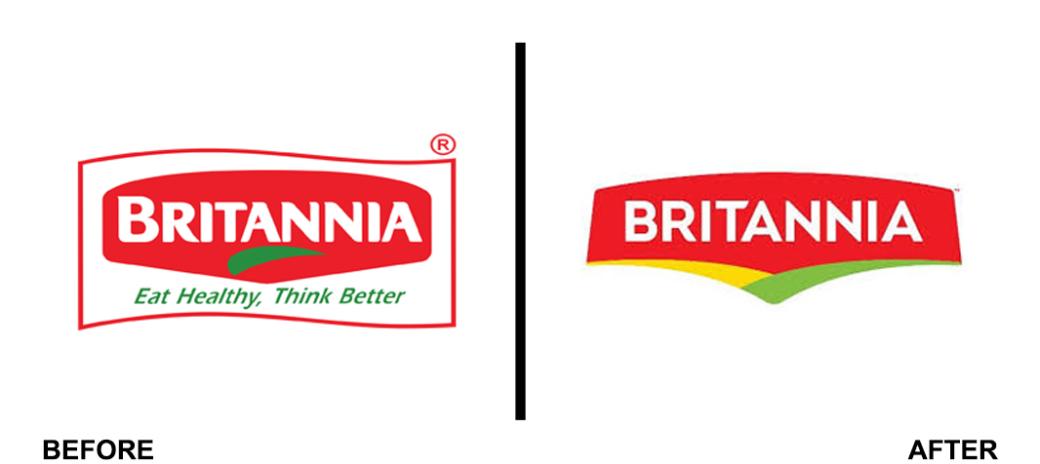 Britannia changed brand logo for centennial anniversary