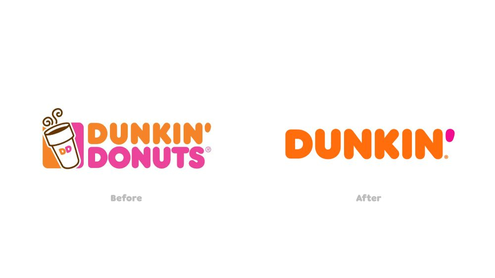 Dunkin' Donuts changed to Dunkin'
