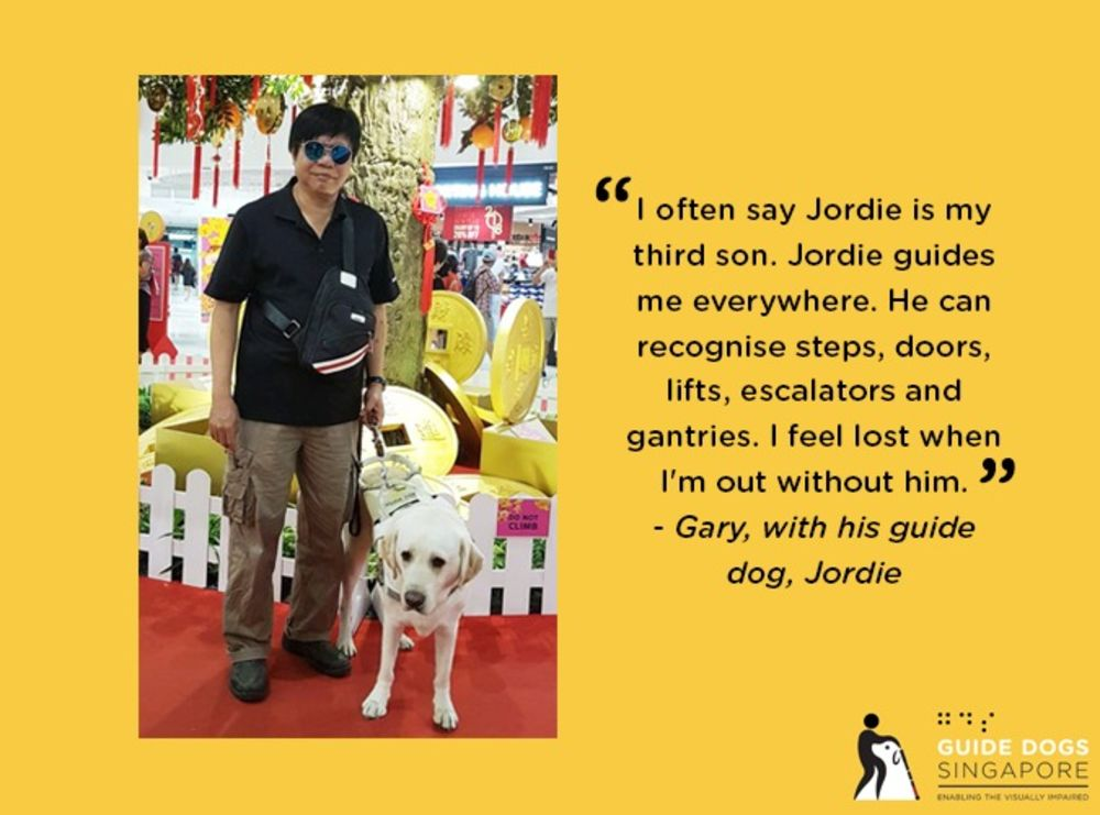 Guide Dogs Singapore featured in April content calendar