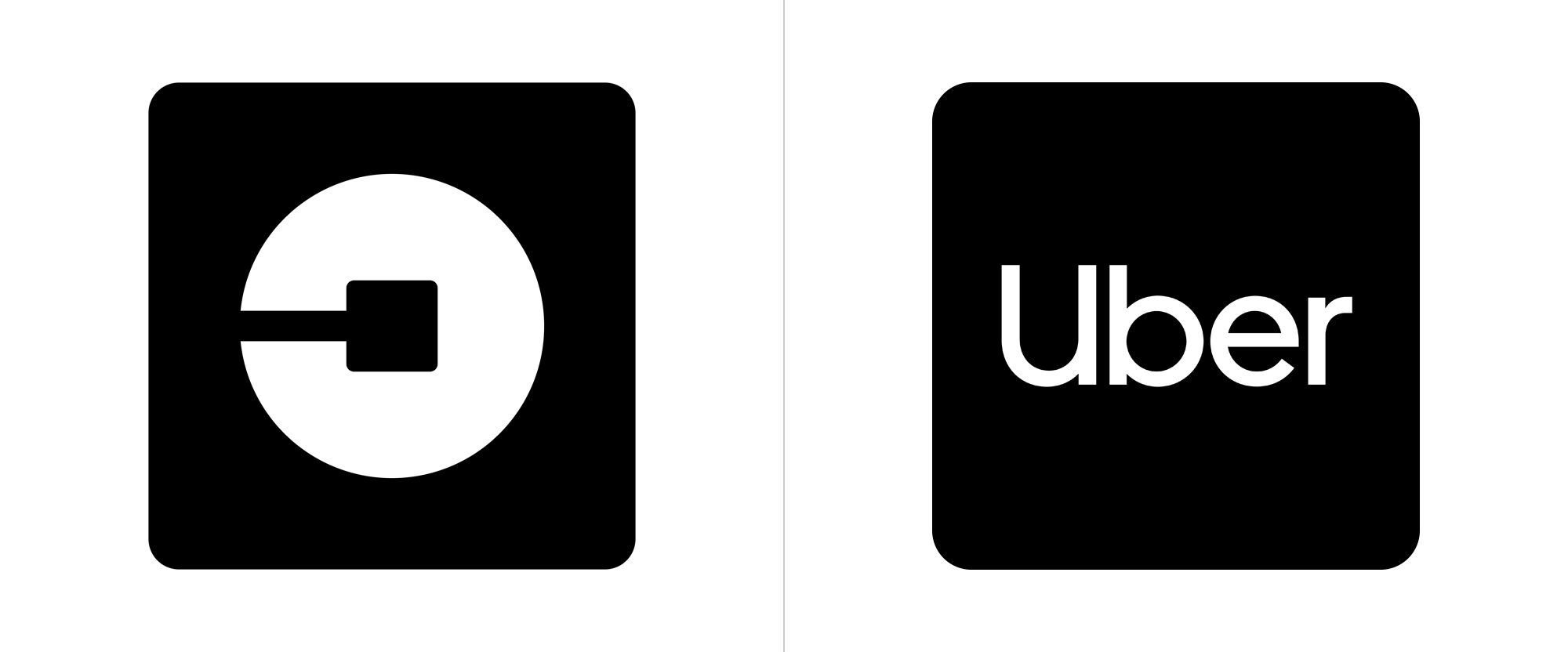 Uber changed brand logo