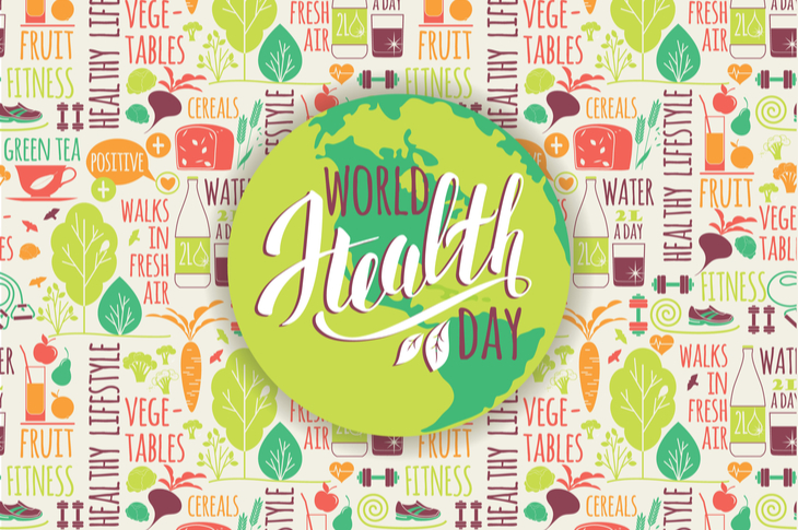 Picture depicting World Health Day concept. Featured in list of brand campaign ideas for April content calendar