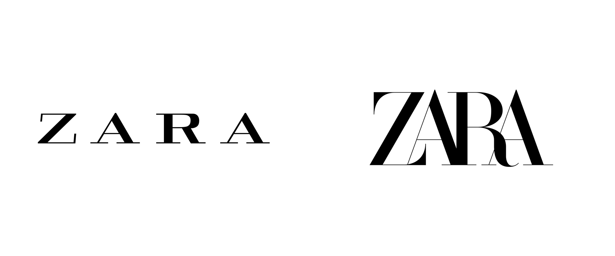 Zara brand logo changed