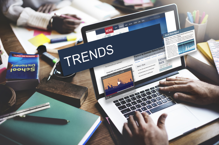 Trending News - Update Trends Report News Flash Concept - Scatter