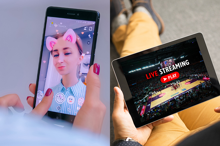 ephemeral content live streaming