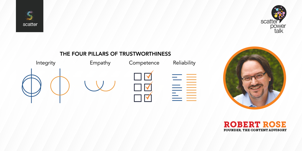 Robert Rose speaks on 4 pillars of trustworthiness in Content Marketing