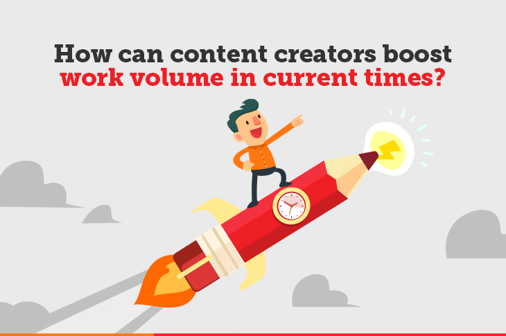content creator work volume